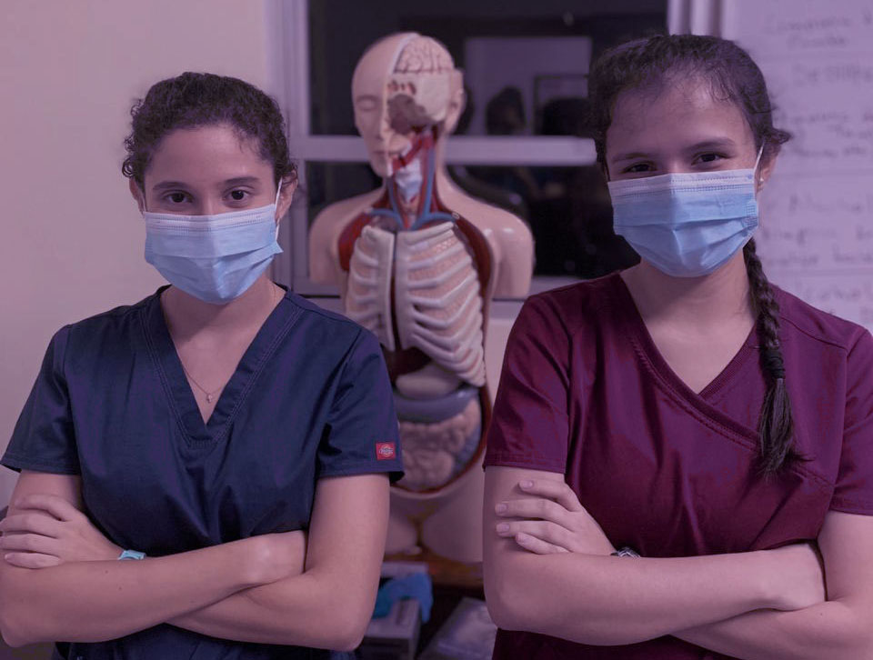 Two medical students